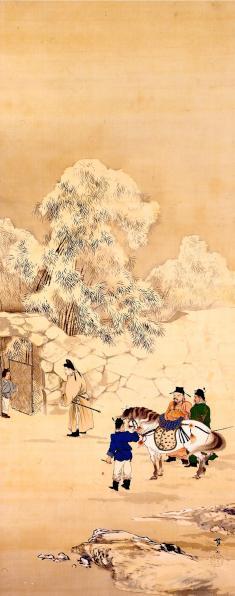 今村紫紅《草廬三顧》1911年 滋賀県立近代美術館蔵