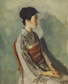 木下孝則《女優の像》1926(大正15/昭和元) / 油彩、キャンバス