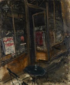 佐伯祐三《カフェ・レストラン》1927 油彩、キャンバス