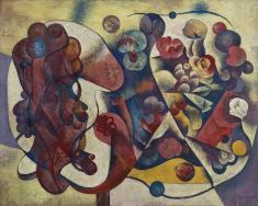 川口軌外《エスキース B》1937 油彩、キャンバス