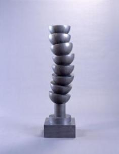 建畠覚造《PILED CUP 2(大)》1996(平成8) 木、FRP、鉛