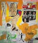 ジャン=ミシェル・バスキア《無題》1984年 アクリル・油彩・油性ペイントスティック・シルクスクリーン、カンヴァス 大阪中之島美術館蔵