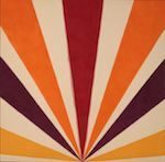 ケネス・ノーランド《カドミウム・レイディアンス》1963年 油彩、カンヴァス 滋賀県立近代美術館蔵