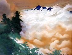 狩野光雅《雨後》1936(昭和11)顔料、絹175.0×229.1cm