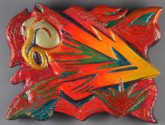 中西學《THUNDER》1988(昭和63)発泡スチロール、アクリル樹脂、他138.0×181.0cm