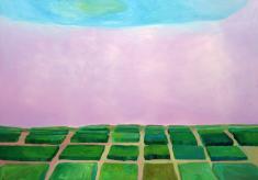 坂井淑恵《Green House》2005(平成17) 油彩、キャンバス 個人蔵