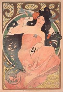アルフォンス・ミュシャ《「ジョブ」ポスター》1898 宇都宮美術館蔵