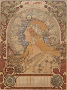 ルフォンス・ミュシャ《「ラ・プリュム」誌の黄道十二宮カレンダー》1897  インテック蔵 *前期展示