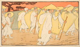 エミール・オルリク《富士山への巡礼》1901 パトリック・シモン・コレクション、プラハ