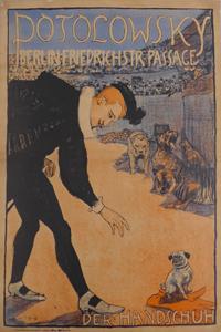 エミール・オルリク《「ポトロフスキー手袋店」ポスター》 1897 宇都宮美術館蔵