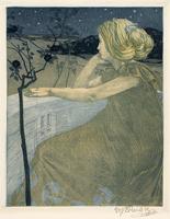 ヴォイチェフ・プライシク《少女の思い》1903 チェコ国立プラハ工芸美術館蔵