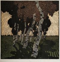 カール・ティーマン《逆光》1909 ダッハウギャラリー美術館連盟/ダッハウ絵画館 *前期展示
