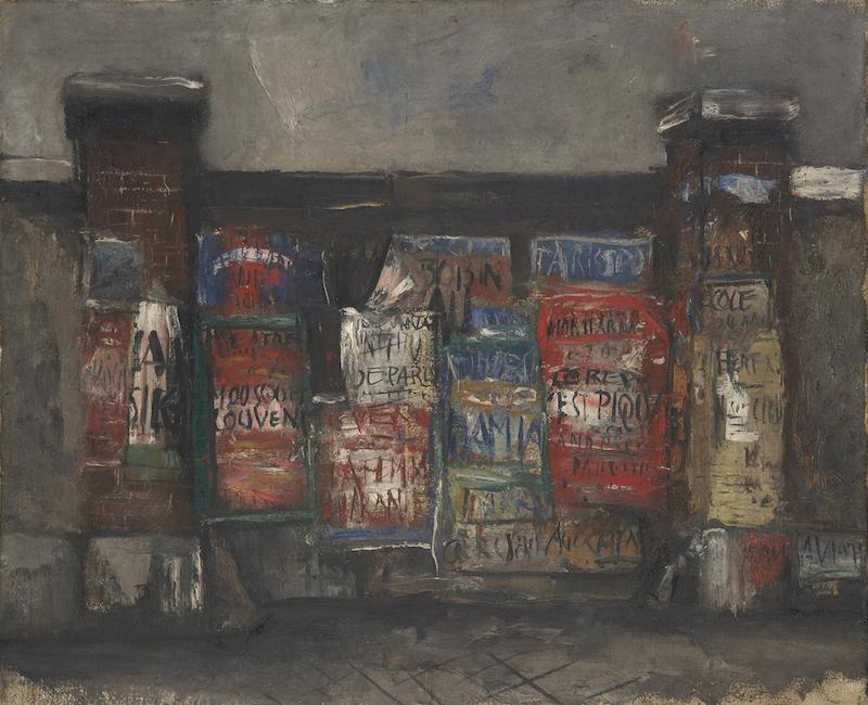 佐伯 祐三《広告のある門》1925