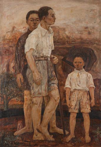 松本 竣介《三人》1943 個人蔵