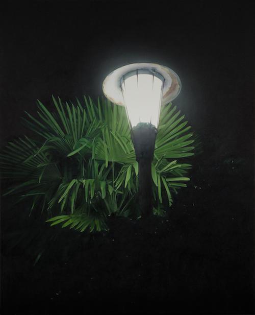 小柳 裕《The Light with the Palm Leaves (Source of Light 14-3)》2014