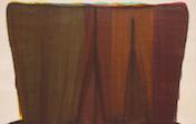 モーリス・ルイス《ダレット・ペー》1959(明治 34)アクリル絵具、キャンバス 滋賀県立近代美術館蔵