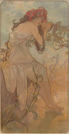 アルフォンス・ミュシャ《四季》より「夏」1896