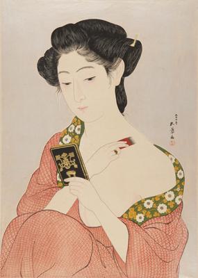 橋口 五葉《化粧の女》1918 和歌山県立近代美術館蔵