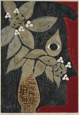斎藤清《凝視(花)》1950 福島県立美術館蔵  © Hisako Watanabe