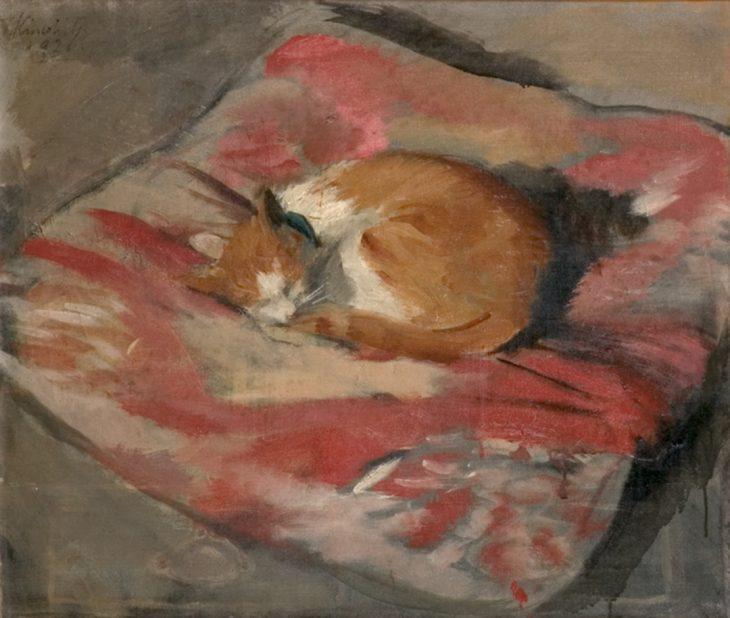 木下孝則《猫》1926 当館蔵