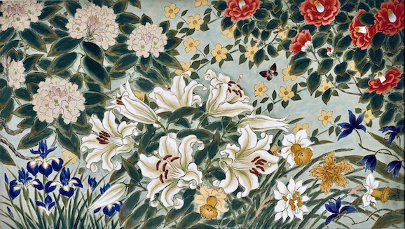 野長瀬晩花《五月の庭》1956年