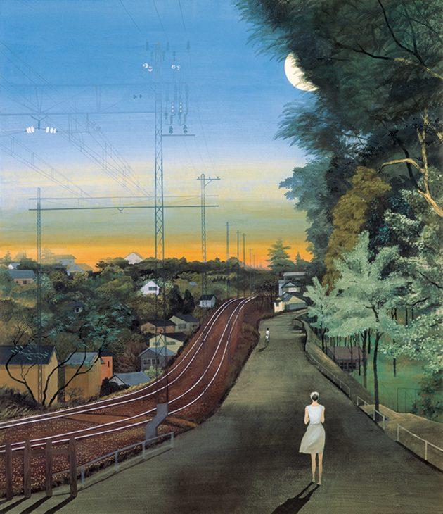 稗田一穂 《帰り路》1981年