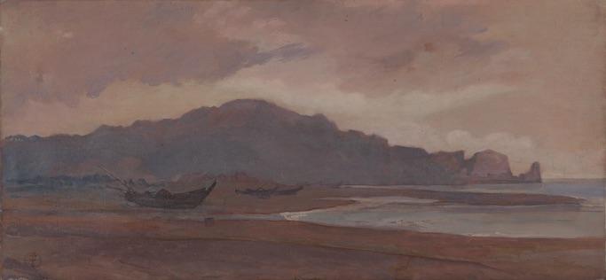 神中糸子《海岸風景》1888〜1892年