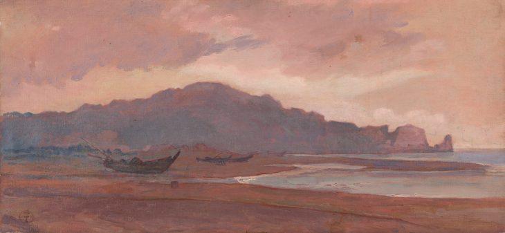 神中糸子《海岸風景》1888−92年