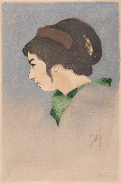 戸張孤雁《女学生》1920年