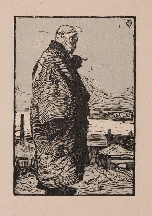 山本鼎 《漁夫》1904年
