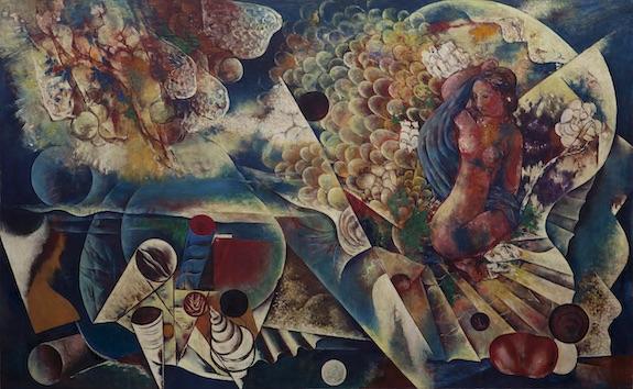 川口軌外《少女と貝殻》1934年