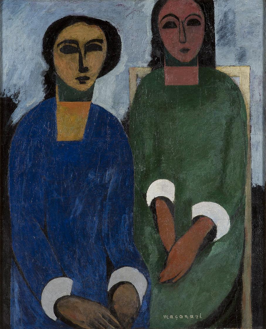 村井正誠《姉妹》1930年 油彩、キャンバス 当館蔵