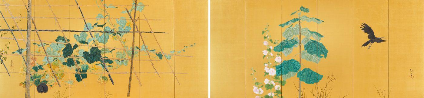 下村観山《唐茄子図》1910年頃 東京国立近代美術館蔵 *後期展示(11月25日から)