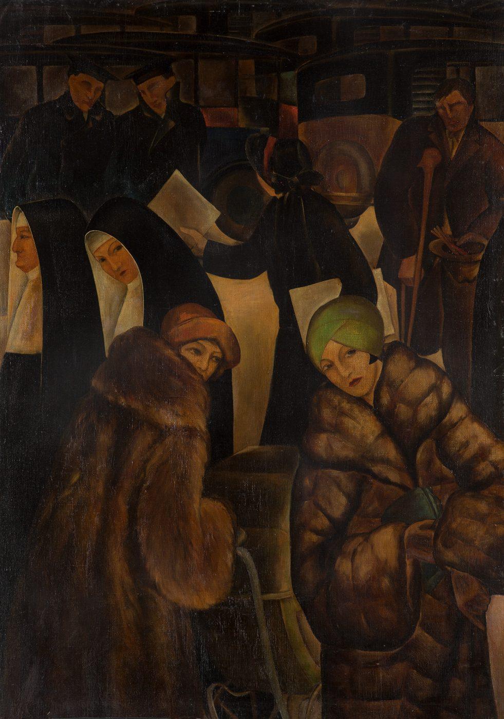 石垣栄太郎《街》1925年 和歌山県立近代美術館蔵