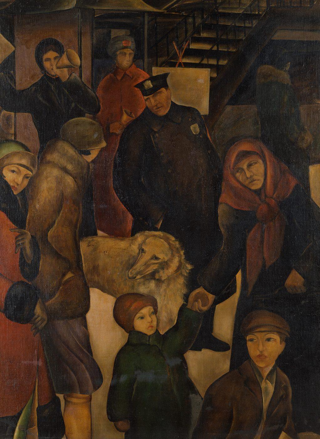 石垣栄太郎《街》1925年 神奈川県立近代美術館蔵