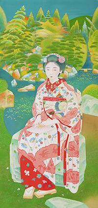 土田麦僊《舞妓林泉》1924年 京都国立近代美術館蔵 *前期展示